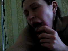 Russian BJ and cum