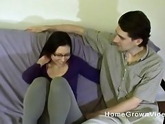 Amateur couple loves using their tongues to please each other