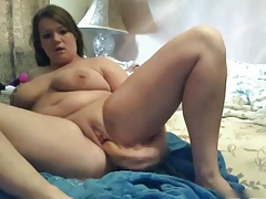 My Fat plumper GF loves masturbating her wet Pussy