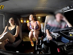 Big tits amateur seduces then fucks the tow truck driver in the back seat