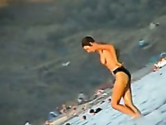 Stunning spy cam clip filmed on a nude beach by me
