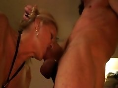Mature blonde gets face-fucked by me in stunning homemade clip