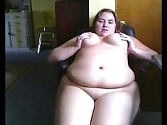 Horny fat bbw friend i met online showing her wet pussy
