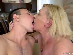 Mature woman Irene gets frisky with a stud's big cock