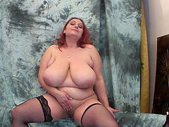 Gertruda is a salacious chubby lady who enjoys toying her cunt