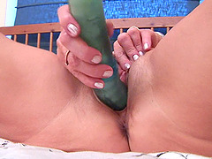 Elderly lady Katalina is happy to make her cunt dripping wet