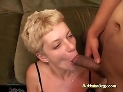 German whore eats a lot of cum